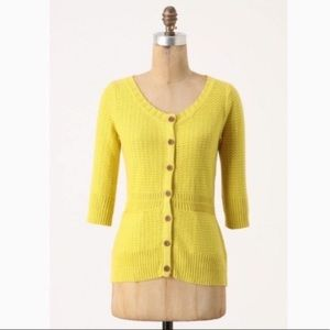 Anthro Sparrow Marigold Stash Away Cardigan
